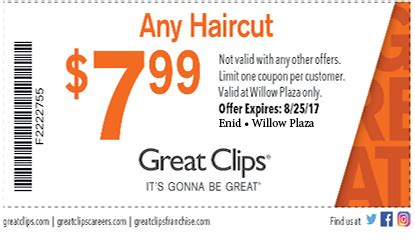 great clip haircut coupons great enid enid hair salon health and 5462