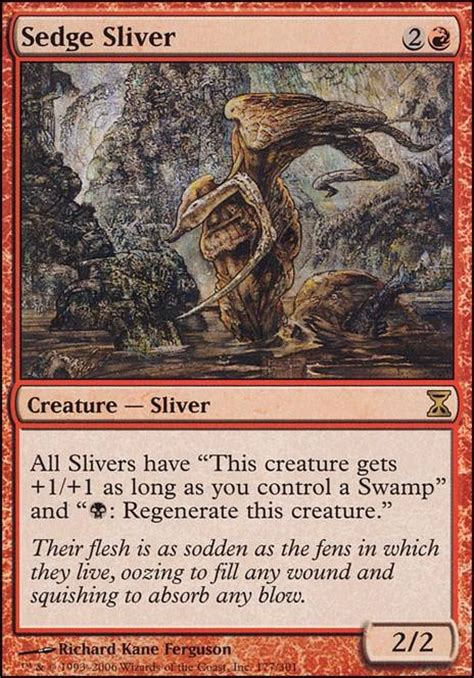 sedge sliver tsp mtg card