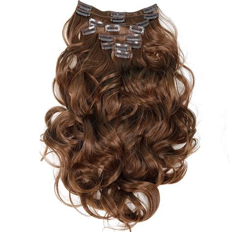 Feibin Clip In Hair Extensions Synthetic Long Hairpiece