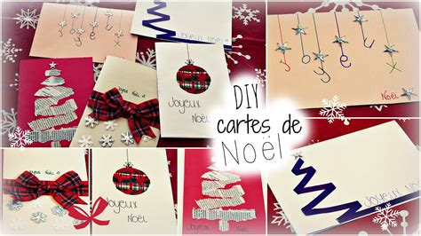 Diy  Cartes De Noël !! Youtube