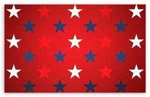 Blue, Red And White Stars 4K HD Desktop Wallpaper for 4K ...