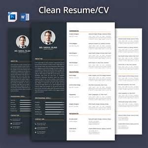 Clean Resume Cv 2017 Resume Templates On Creative Market