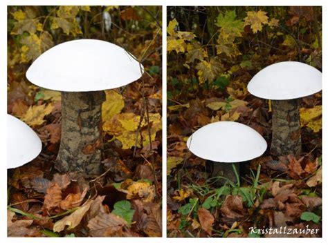 Pilze Für Garten Basteln by Ruck Zuck Pilze Selbstgemacht Aus Baumstamm Und