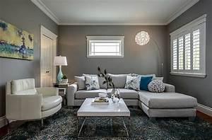 Wohnzimmer In Grau Weiß : wohnzimmer grau einrichten und dekorieren ~ Sanjose-hotels-ca.com Haus und Dekorationen