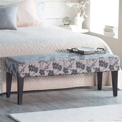 Bedroom Bench Au by Belham Living Altea Upholstered Bedroom Bench Grey