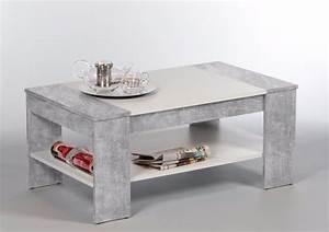 Table Basse Bois Gris : table basse en bois gris 100cm avec tiroir mod le berlin ~ Melissatoandfro.com Idées de Décoration