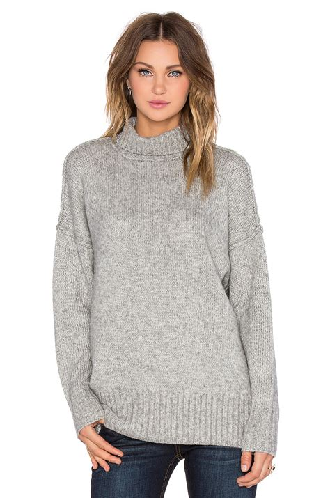 oversized sweater nlst oversized turtleneck sweater in grey revolve