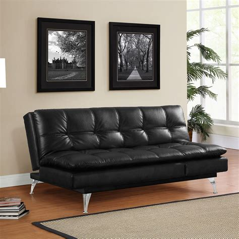 sams club leather sofa bed gabrielle setra sofa bed black by lifestyle solutions