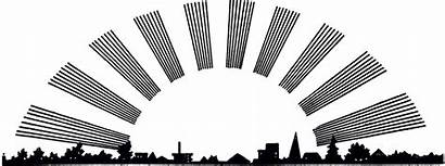 Clipart Sunrise Sunset Graphics Clip Silhouette Citiscape