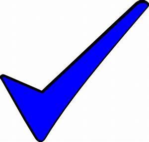 The Blue Tick Clip Art at Clker.com - vector clip art ...