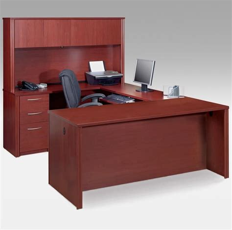 furniture ideas of u shaped desk with black office chair