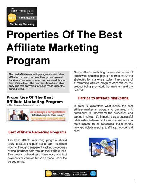 Best Marketing Programs by Properties Of The Best Affiliate Marketing Program By Merv