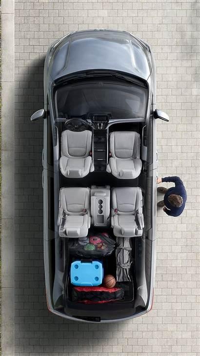 Honda Odyssey Seats Row Space Cargo Van