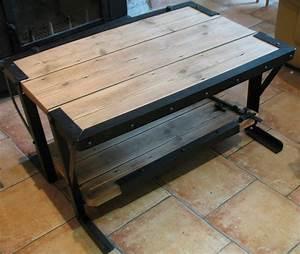Meuble En Fer : table basse bois fer ce site regroupe trois activit s ~ Teatrodelosmanantiales.com Idées de Décoration
