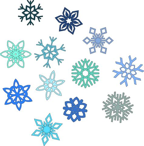 Image result for blue snowflakes clip art