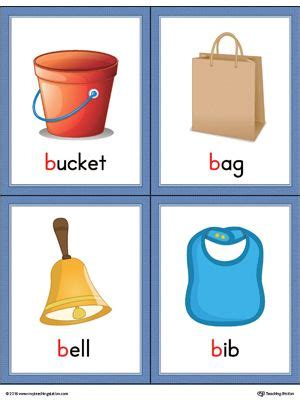 If you need me to quote it for you to. Letter B Words and Pictures Printable Cards: Bucket, Bag, Bell, Bib (Color) | Alphabet word wall ...