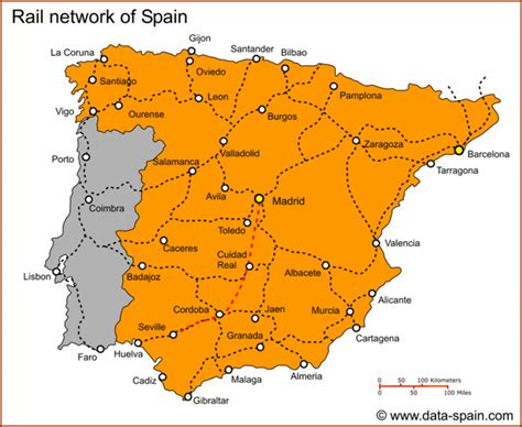 Carte Autoroute Espagne Portugal by Map Of Spain S Cities Spain Site Analysis And City