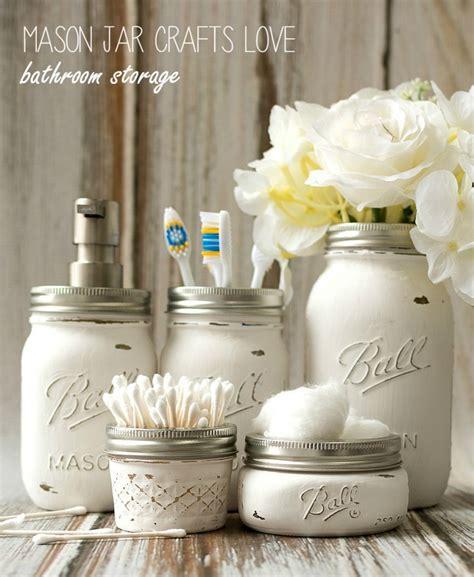 mason jar bathroom storage bigdiyideascom