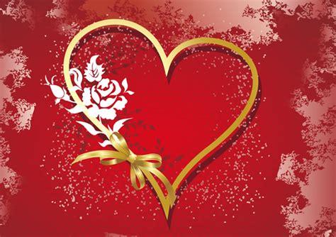 corazon dorado fondo rojo imagen  imagenes cool