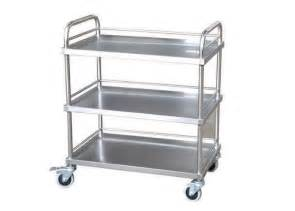 Hospital Medicine Cabinet by 3 Layers Stainless Steel Medical Trolley Treatment Cart