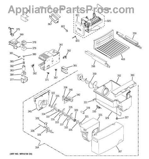 parts  ge gshjftaww ice maker dispenser parts