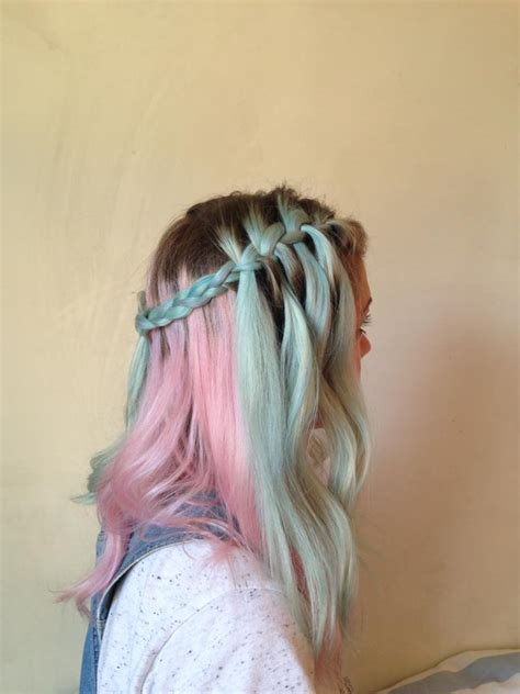 pony hair  pastel blue  pink hair colors
