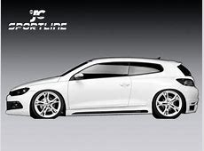 PU vw scirocco side skirts