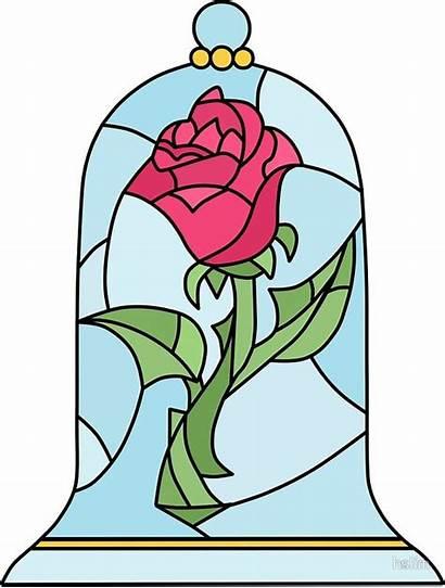 Beast Rose Glass Stained Disney Bella Bestia