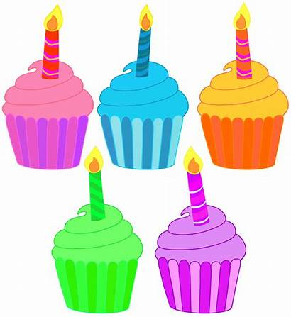 Cupcake Candle Clipart Birthday Cupcakes Classroom Clip