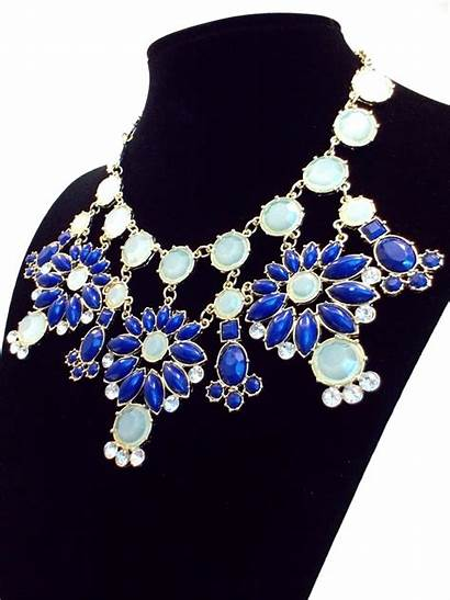 Statement Necklace Snowflakes Floral Jeweled Dainty Kay