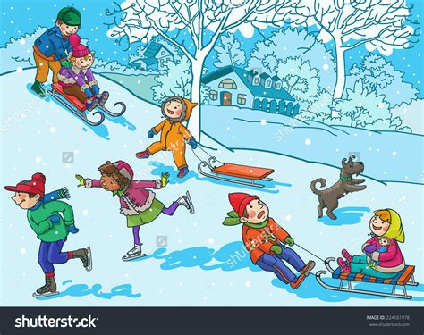 Free Clip Winter Winter Activities Clipart 101 Clip