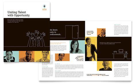 recruiter brochure template design