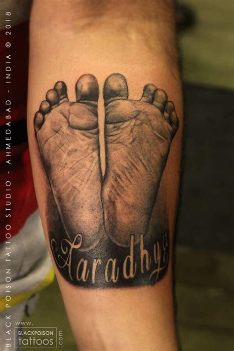 baby footprint tattoo  tattoo studio  india black
