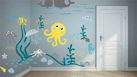 Child S Room Wall Nz underwater mural as a way to decorate your child s room