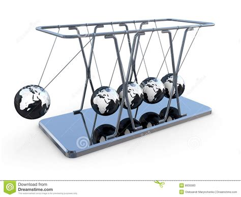 newtons pendulum stock illustration illustration  asia