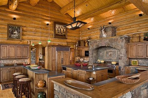 Rustic Log Cabin Kitchen Ideas by Amazing Kitchens Design With Rustic Elements Home Design