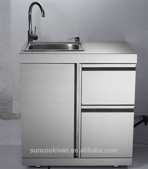 Stainless Steel Outdoor Sink Cabinet,with Stainless Steel