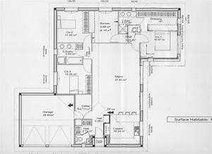 plan maison plain pied 80m2 great plans de maisons with With good plan maison avec patio 7 maison plain pied 2 chambres plans amp maisons