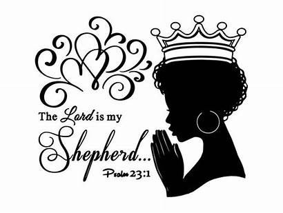 Queen Praying Woman Quotes Svg African Nubian