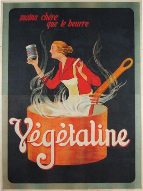 affiche vintage cuisine vegetaline original vintage food poster