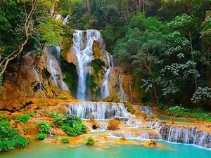 Kuang, Si, Falls, Or, Tat, Kuang, Si, Waterfalls, In, Laos, Crag