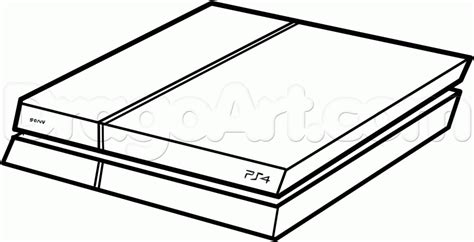 Ps4 Console Coloring Pages For Kids