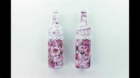 decoupage bottles  crackles decoupage tutorial diy