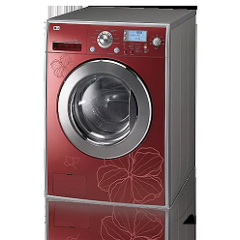 Lg Washing Machine 8kg & Drayer Steam 4kg Red Color