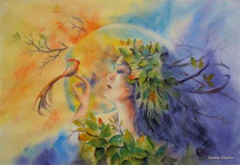 Aquarelles imaginaire Gisèle Seyller
