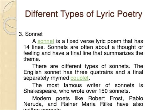 Both are sent into the air, both are lost by the speaker, and both eventually arrive at their destination. LYRIC POETRY
