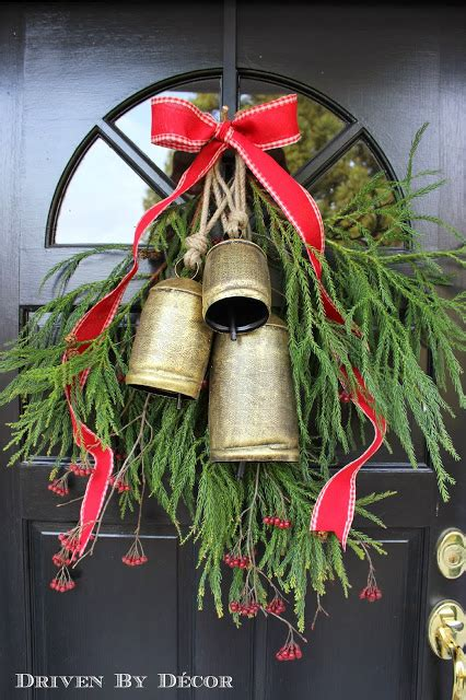 Decorating Our Front Door for Christmas | Driven by Decor