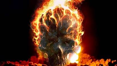 Skull Fire Wallpapers Bonfire Burn Smoke Phone