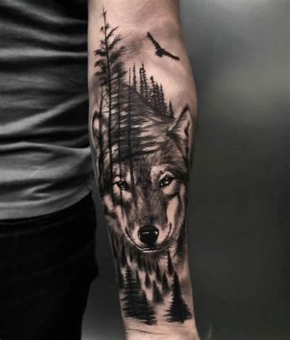 Tattoo Wolf Tattoos Xam Soi Hinh Forearm
