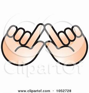 Shadow Holding Hands Clipart